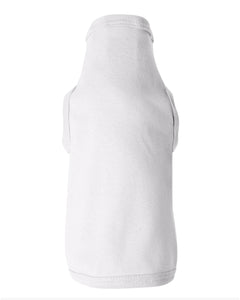 white doggie skins dog tank top