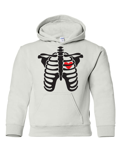 skeleton halloween youth hoodie