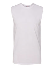 Load image into Gallery viewer, white men's sleeveless t-shirt