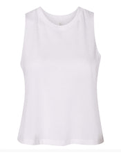 Load image into Gallery viewer, white crop top tank top