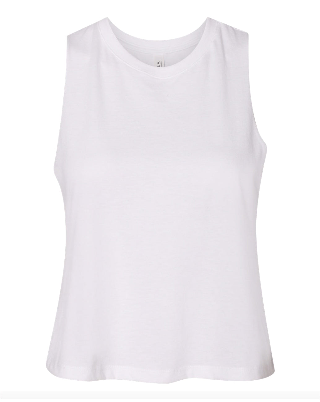 white crop top tank top