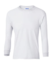 Load image into Gallery viewer, white youth long sleeve t shirt