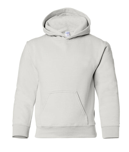 white youth pullover hoodie sweatshirt