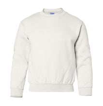Load image into Gallery viewer, white youth crewneck sweatshirt