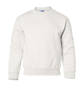 white youth crewneck sweatshirt