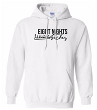 Load image into Gallery viewer, white 8 nights Hanukkah Hooded Sweatshirt