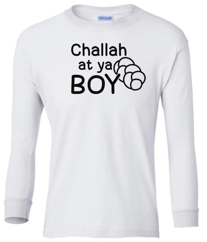 white challah youth long sleeve Hanukkah T Shirt