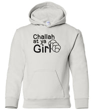 Load image into Gallery viewer, white challah toddler hooded Hanukkah Sweatshirt