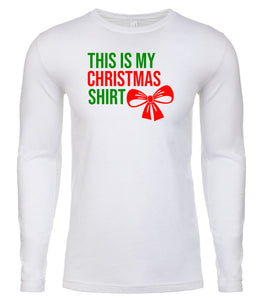 white Christmas shirt for Men