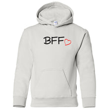 Load image into Gallery viewer, white BFF youth hooded sweatshirts for girls