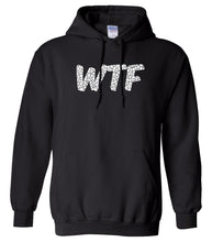 Load image into Gallery viewer, black WTF hooded sweatshirt for women