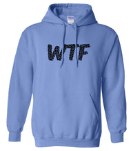 Load image into Gallery viewer, blue WTF hooded sweatshirt for women