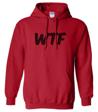 Load image into Gallery viewer, red WTF hooded sweatshirt for women