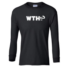 Load image into Gallery viewer, black WTH youth long sleeve t shirt for girls