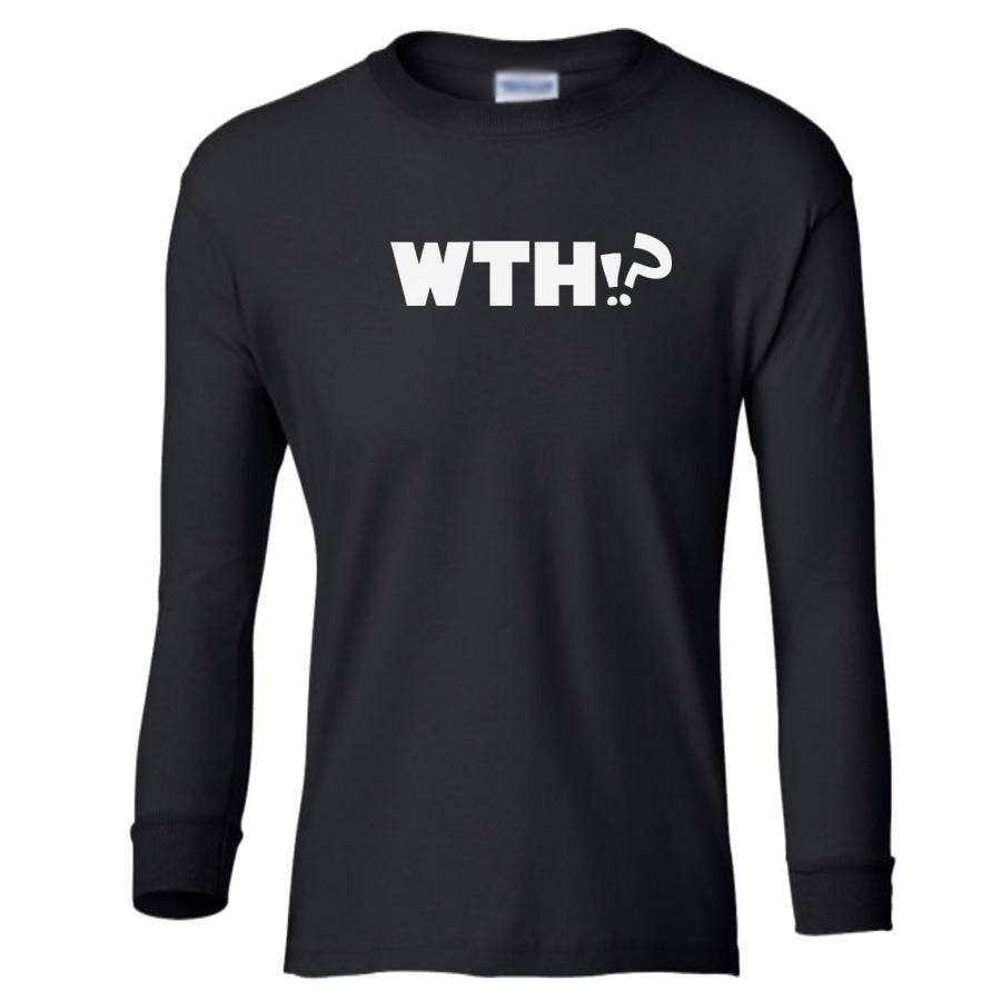 black WTH youth long sleeve t shirt for girls