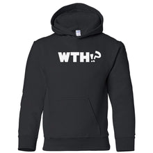 Load image into Gallery viewer, black WTH youth hooded sweatshirts for girls
