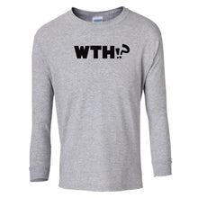 Load image into Gallery viewer, grey WTH youth long sleeve t shirt for girls