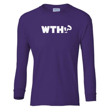 Load image into Gallery viewer, purple WTH youth long sleeve t shirt for girls