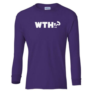 purple WTH youth long sleeve t shirt for girls