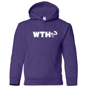 purple WTH youth hooded sweatshirts for girls