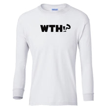 Load image into Gallery viewer, white WTH youth long sleeve t shirt for girls