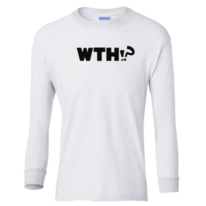 white WTH youth long sleeve t shirt for girls