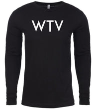 Load image into Gallery viewer, black wtv mens long sleeve shirt