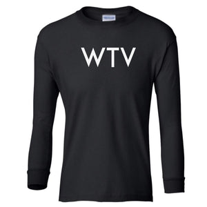 black WTV youth long sleeve t shirt for girls