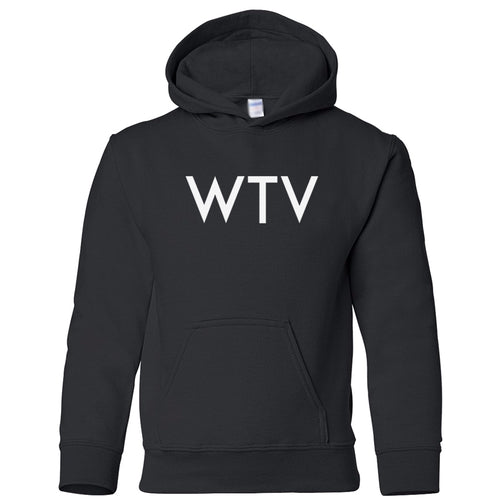 black WTV youth hooded sweatshirt for boys
