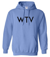 Load image into Gallery viewer, blue WTV hooded sweatshirt for women