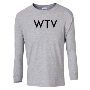 grey WTV youth long sleeve t shirt for boys