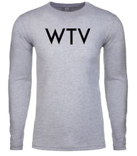 Load image into Gallery viewer, grey wtv mens long sleeve shirt