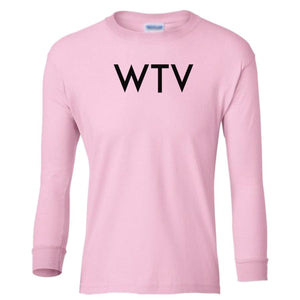 pink WTV youth long sleeve t shirt for girls