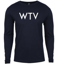 Load image into Gallery viewer, navy wtv mens long sleeve shirt