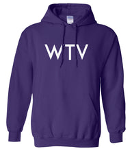 Load image into Gallery viewer, purple WTV hooded sweatshirt for women