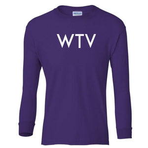 purple WTV youth long sleeve t shirt for girls