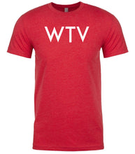 Load image into Gallery viewer, red wtv mens crewneck t shirt