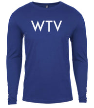 Load image into Gallery viewer, blue wtv mens long sleeve shirt