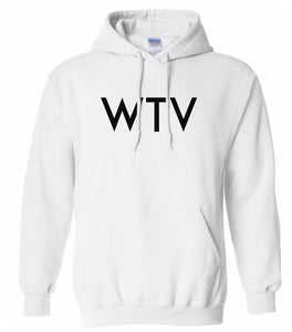 white wtv mens pullover hoodie