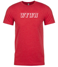 Load image into Gallery viewer, red wywh mens crewneck t shirt
