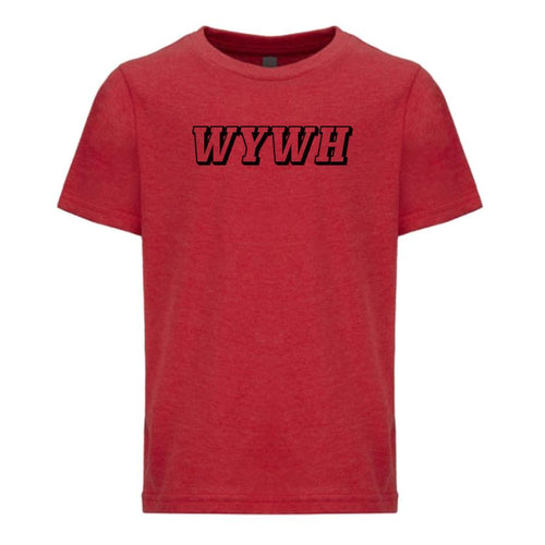 red WYWH youth crewneck t shirt for boys