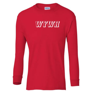 red WYWH youth long sleeve t shirt for boys