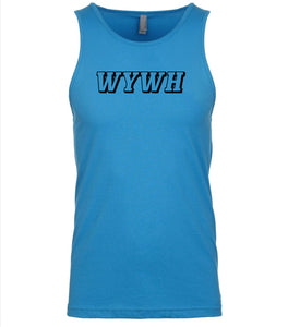 blue wywh mens tank top
