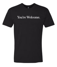 Load image into Gallery viewer, black you're welcome crewneck t shirt