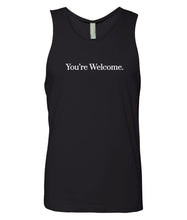Load image into Gallery viewer, black you're welcome men's tank top