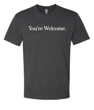 Load image into Gallery viewer, charcoal you're welcome crewneck t shirt