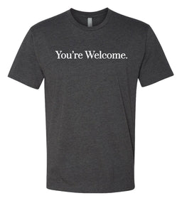 charcoal you're welcome crewneck t shirt