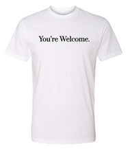 Load image into Gallery viewer, white you're welcome crewneck t shirt