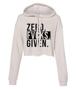 dust zero cropped hoodie