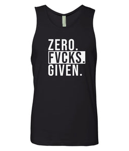 black zero FG tank top